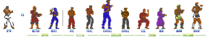 Street Fighter C64 Enemies